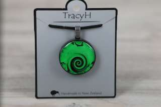 TracyH Pendant Round Wave Green