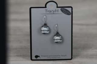 TracyH Earring Round Marble Black White