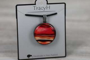 TracyH Pendant Round Marble Red