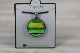 TracyH Pendant Round Marble Green
