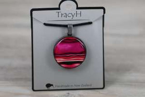 TracyH Pendant Round Marble Pink