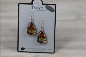 TracyH Earring Triangle Butterfly Orange