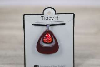 TracyH Pendant Triangle Dark Red
