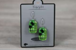 TracyH Earring Rect Cabbage Green