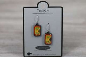 TracyH Earring Rect Short Blocks Orange