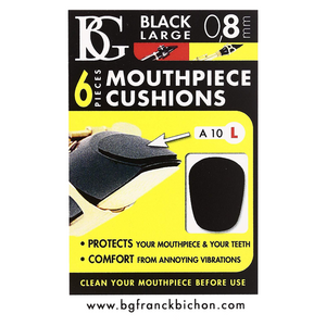 BG France A10L Small 0.8mm Mouthpiece Cushion (Black)