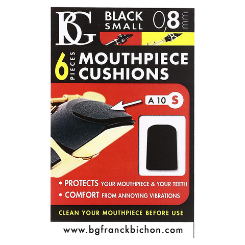 BG France A10S Small 0.8mm Mouthpiece Cushion (Black)