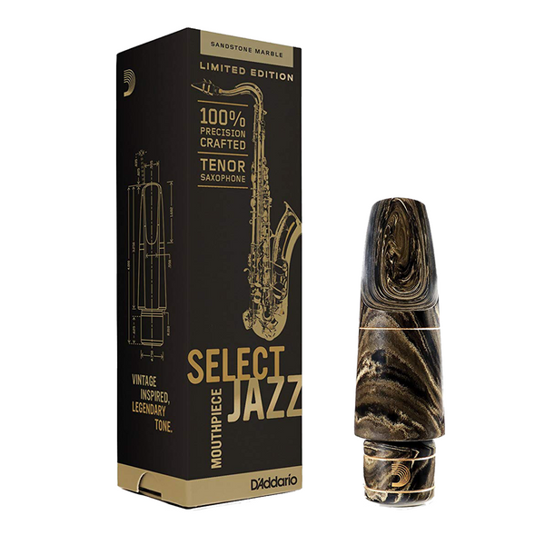 D'Addario Select Jazz Sandstone Marble Tenor Saxophone Mouthpiece