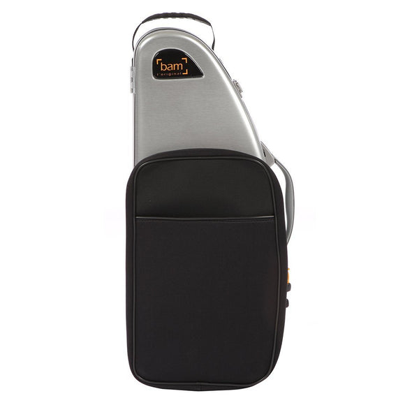 Bam - La Defense Hightech Alto Saxophone Case with Pocket (Brushed Aluminium)-Case-Bam-Music Elements