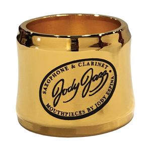 JodyJazz - POWER RING Alto Saxophone Ligatures-Saxophone-JodyJazz-Hard Rubber/Gold Plated-Music Elements