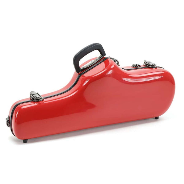 JW Eastman - Shaped Alto Saxophone Cases-Case-JW Eastman-Red-Music Elements