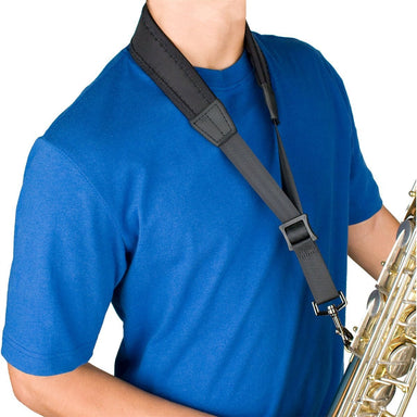 Protec - 22″ (Regular) Ballistic Neoprene Less-Stress Saxophone Neck Strap-Accessories-Protec-Black-Music Elements