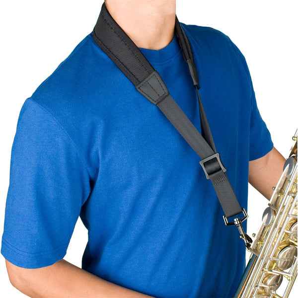 Protec - 24″ (Tall) Ballistic Neoprene Less-Stress Saxophone Neck Strap-Accessories-Protec-Music Elements