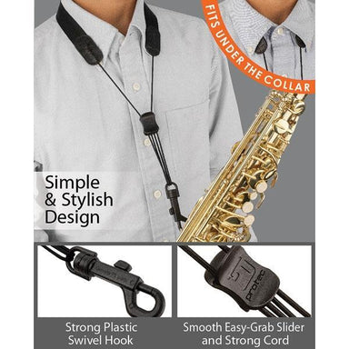 Protec - Nylon Saxophone Neck Strap with Plastic Swivel Snap-Accessories-Protec-Music Elements