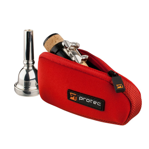 Protec - Single Neoprene Mouthpiece Pouch (for Trombone/Clarinet/Alto Saxophone)-Accessories-Protec-Red-Music Elements