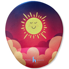oval model happy sun bilek destekli mouse pad