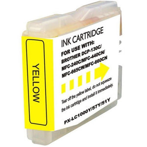 LC51Y Compatible yellow inkjet cartridge for Brother