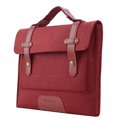 Grey/Wine Red Woolen Felt 13 15 inch Laptop Shoulder Bag for laptop/ MacBook/ notebook