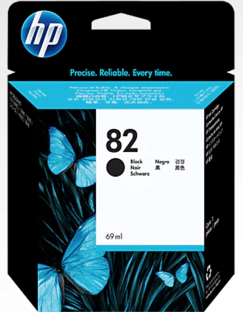 HP 82 CH565A Original 69ml Black DesignJet Ink Cartridge