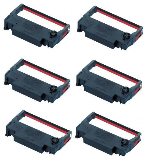 ERC30/34/38-BK/R compatible Black/Red Ribbon for Epson 6/Box