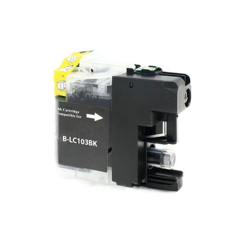 LC103BK Compatible high yield black inkjet cartridge for Brother