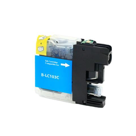 LC103C Compatible high yield cyan inkjet cartridge for Brother