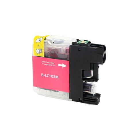 LC103M Compatible high yield magenta inkjet cartridge for Brother