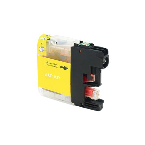 LC103Y Compatible high yield yellow inkjet cartridge for Brother