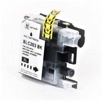 LC203BK Compatible high yield black inkjet cartridge for Brother