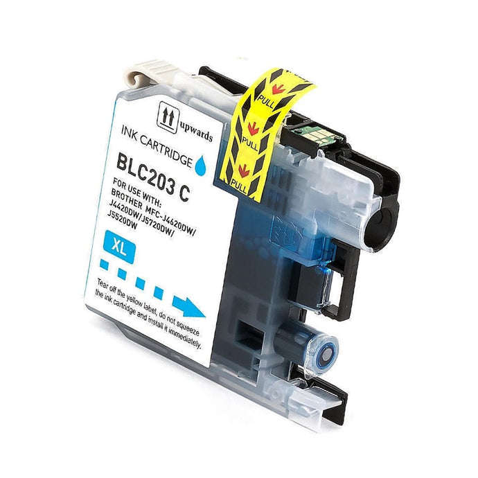 LC203C Compatible high yield cyan inkjet cartridge for Brother