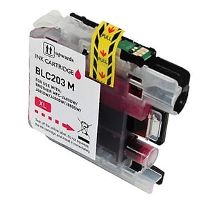 LC203M Compatible high yield magenta inkjet cartridge for Brother
