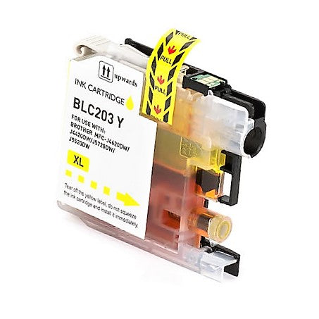 LC203Y Compatible high yield yellow inkjet cartridge for Brother