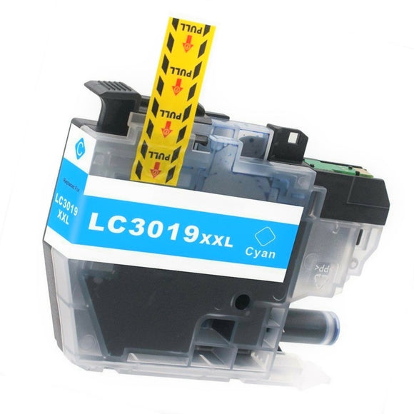 LC3019XXLC Compatible extra high yield cyan inkjet cartridge for Brother