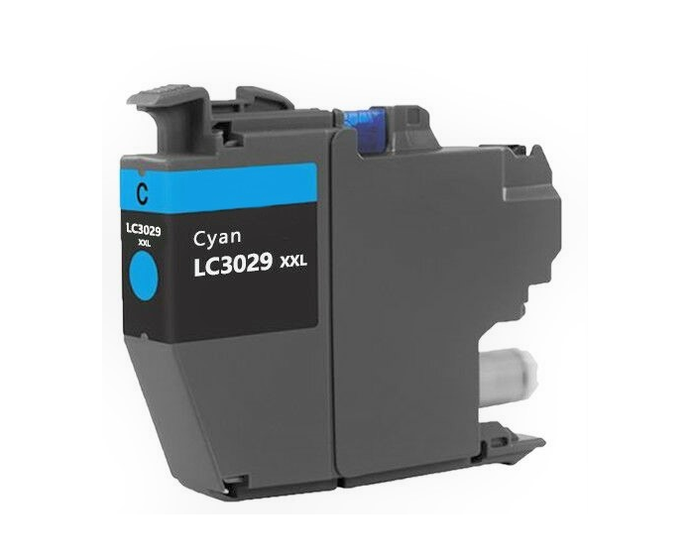 LC3029XXLC Compatible extra high yield cyan inkjet cartridge for Brother