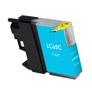 LC65C Compatible high yield cyan inkjet cartridge for Brother