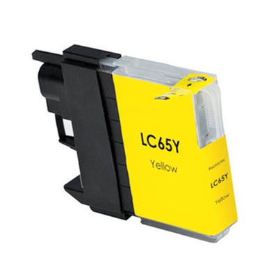 LC65Y Compatible high yield yellow inkjet cartridge for Brother
