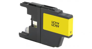 LC75Y Compatible high yield yellow inkjet cartridge for Brother