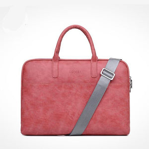 "PU Leather Waterproof Scratch-resistant Laptop Briefcase 13"" 14"" 15"" MacBook / Notebook Shoulder Bag"