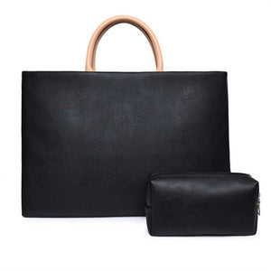 "Eagwell PU Leather Universal Laptop Shoulder Bag 13"" 14"" 15""  For MacBook , HP, Dell and other notebook"
