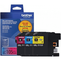 LC1053PKS Brother Original (OEM) 3 pack CMY Super High Yield (XXL) inkjet cartridges