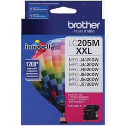 LC205MS Brother Original (OEM) Magenta Super High Yield (XXL) inkjet cartridge