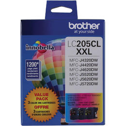 LC2053PKS Brother Original (OEM) 3 pack CMY Super High Yield (XXL) inkjet cartridges