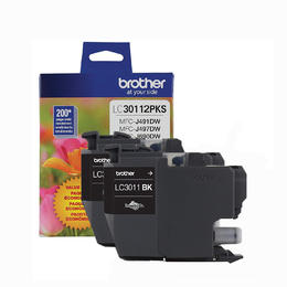 LC30112PKS Brother Original (OEM) 2 Pack Black Inkjet Cartridges