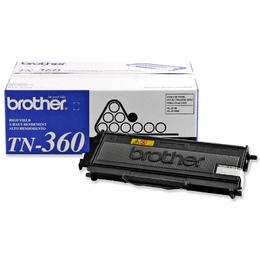 TN360 Brother Original (OEM) High Yield Black Laser Toner Cartridge
