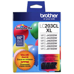 LC2033PKS Brother Original (OEM) 3 pack CMY High Yield (XL) inkjet cartridges