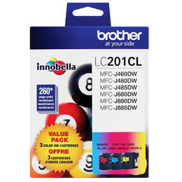 LC2013PKS Brother Original (OEM) 3 pack CMY inkjet cartridges