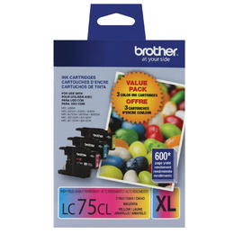 LC753PKS Brother Original (OEM) 3 pack CMY High Yield (XL) inkjet cartridges