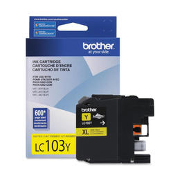 LC103YS Brother Original (OEM) Yellow High Yield (XL) Inkjet Cartridge