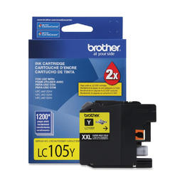 LC105YS Brother Original (OEM) Yellow Super High Yield (XXL) inkjet cartridge