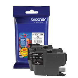 LC30172PKS Brother Original (OEM) 2 Pack Black High Yield (XL) inkjet cartridges